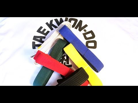 ITF Taekwondo Belt Order & Color Meanings 🥋