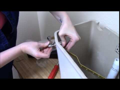 How To Install An Adjustable Toilet Trip Lever Youtube