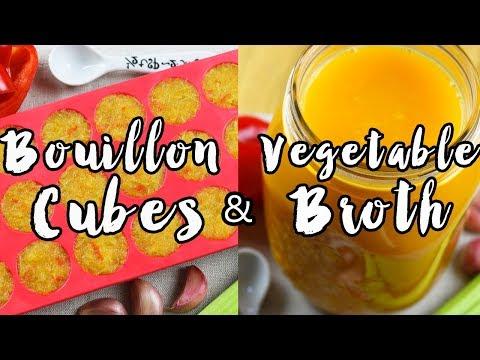 HOW TO MAKE VEGETABLE BOUILLON CUBES & VEGETABLE BROTH   Vegan Easy  Recipe   Organic & Healthy Food