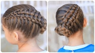 Repeat youtube video Zipper Braid Updo | Cute Girls Hairstyles
