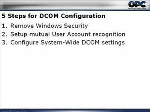 Introduction: OPC & DCOM: 5 Things you need to know