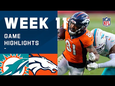 Dolphins vs. Broncos Week 11 Highlights | NFL 2020