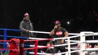 Kaaris Blow avant le combat de Patrice Quarteron