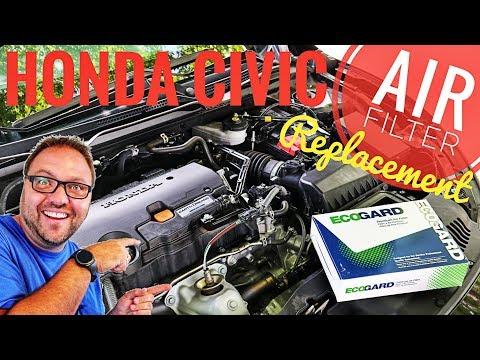 Honda Civic Air Filter Replacement - 2016 2017 2018 2019