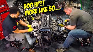 "Tearing Apart Our Cheap ""500 HP"" 2JZ Engine Was A BAD IDEA"