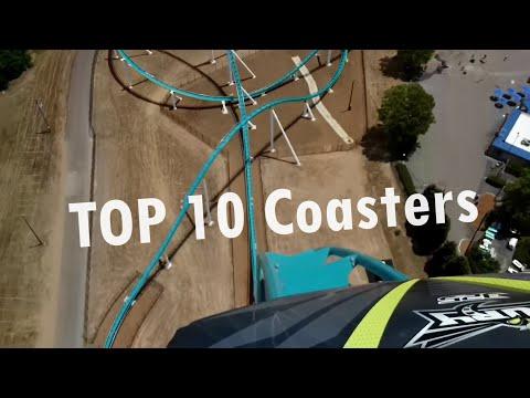 Top 10 Roller Coasters Carowinds 2015 (POV)