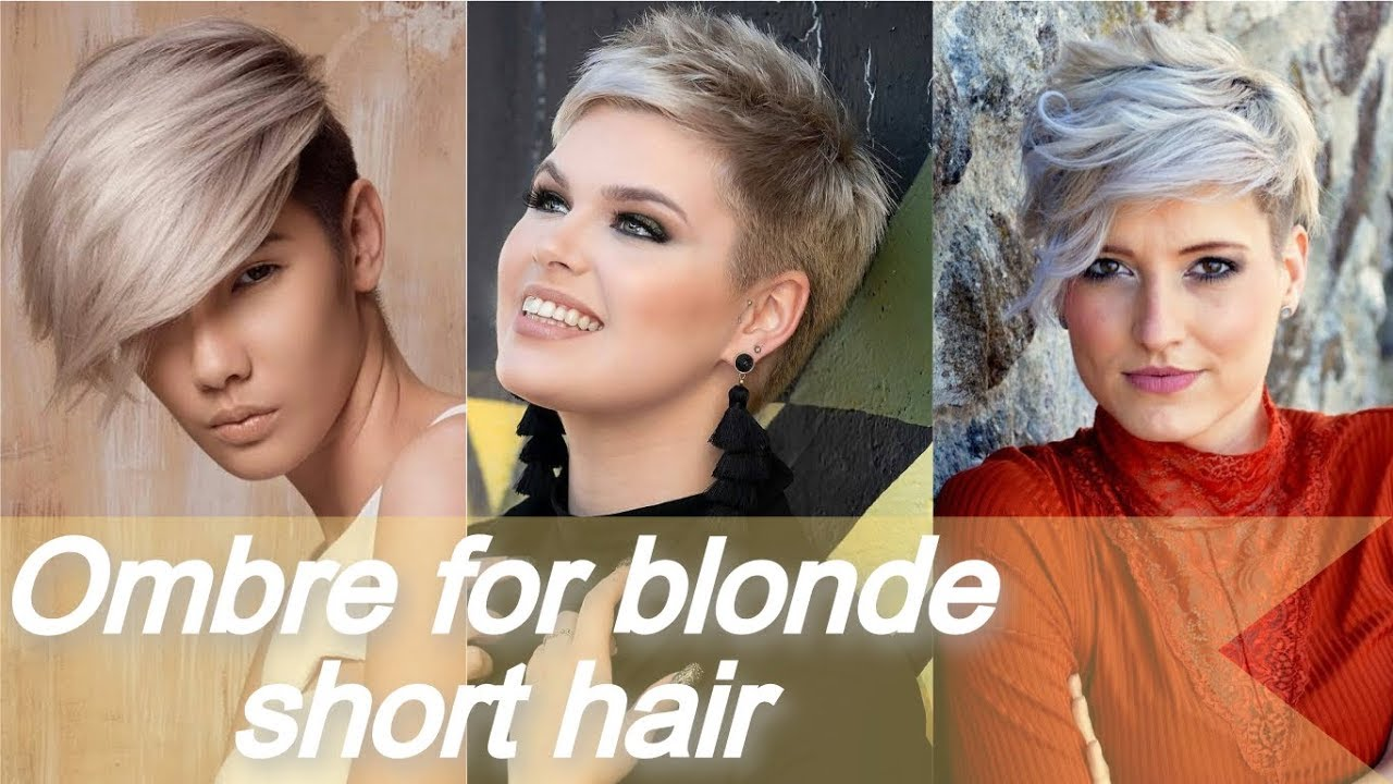 Ombre For Blonde Short Hair L Hair Color Ideas 2019 Youtube