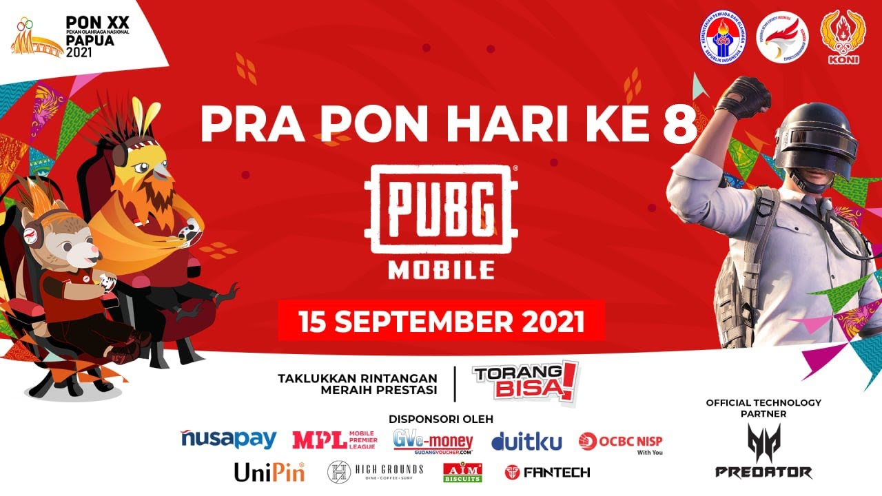 Download PRA-PON PUBGM EKSIBISI ESPORTS PON XX PAPUA 2021- HARI KE DELAPAN