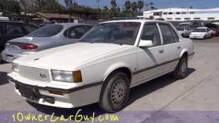 1 Owner Cadillac Cimarron First Start Up & Test Drive D'oro Nr Mint 38K Original Mi Classic