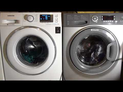 Wash race : Samsung Ecobubble daily 60 vs Hotpoint Fast wash 60'c