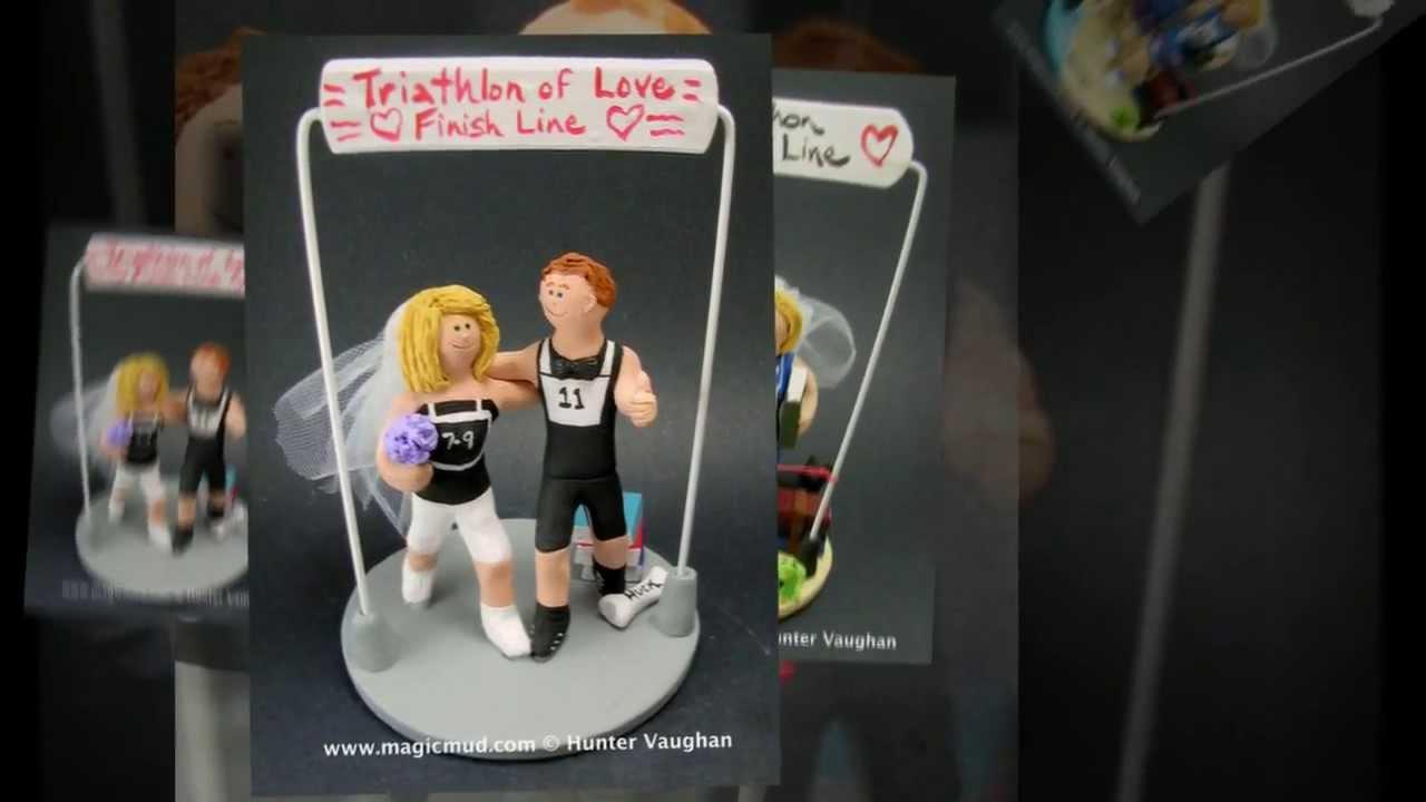 Marathon Runners Wedding Cake Toppers