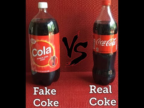 Real Coke Cola VS Fake Coke Cola