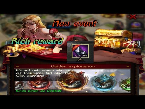 Clash of King 2020: event golden exploration (very rich reward)
