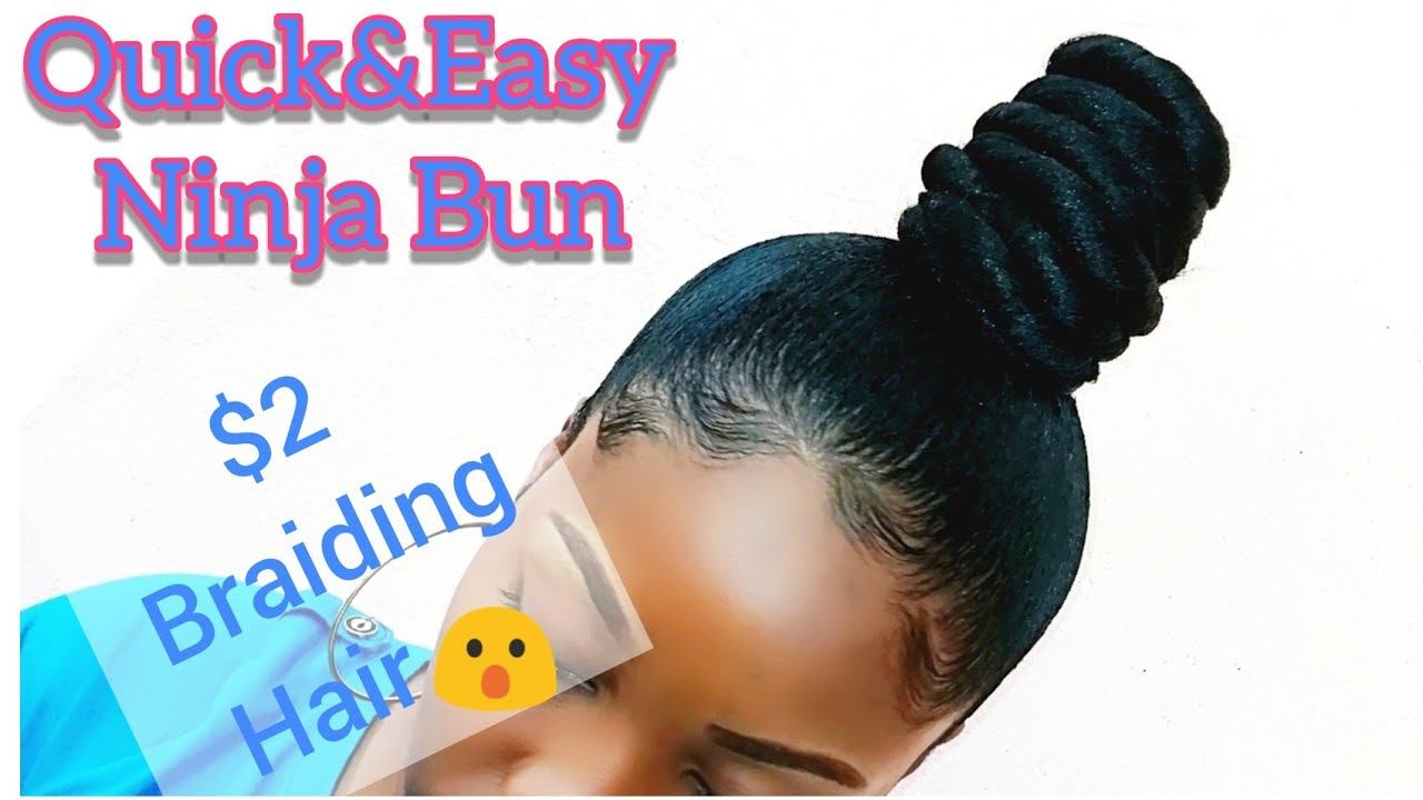 Download How to do: Quick & Easy NINJA BUN WITH BRAIDING HAIR