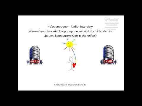 Ho'oponopono Heilung durch Vergebung Radiointerview in deutsch im litauischen Kultur Radio