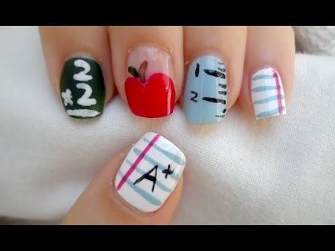 - Easy Back To School Nail Art ! - YouTube