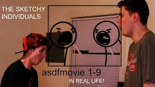 asdfmovie 1-9 IN REAL LIFE!