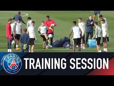 Paris Saint-Germain training session ANDERLECHT vs PARIS SAINT-GERMAIN