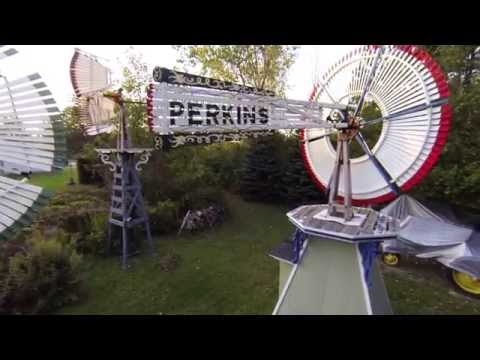 Arial Photography of Antique Windmills