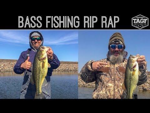Bass Fishing Jigs & Crankbaits On Rip Rap -- Bone Creek Lake