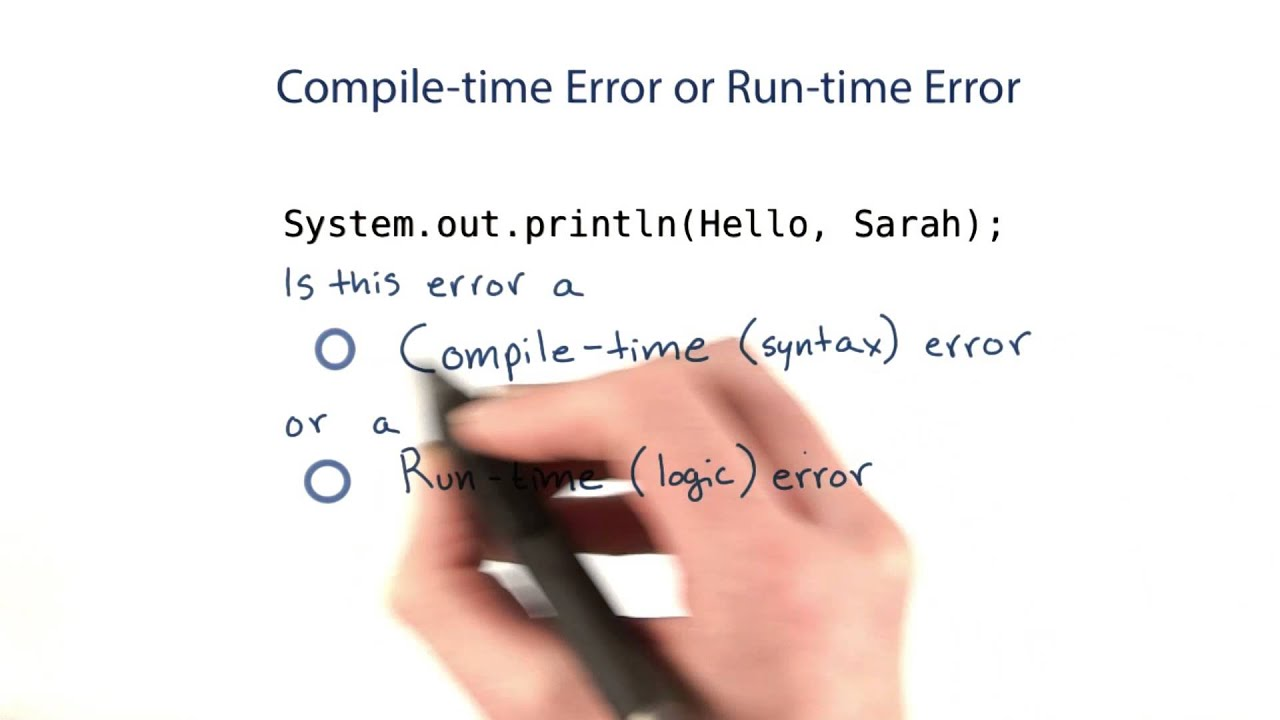 Compile-Time and Runtime Errors - Intro to Java Programming