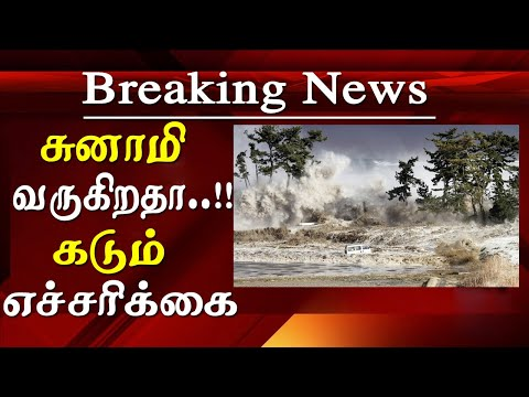 tsunami in tamilnadu INDOFOS warning tamil news today   Indian Ocean Forecast System (INDOFOS) has issued a warning that tamilnadu that,  High waves in the range of 3.0 - 3.4 meters are forecasted during 17:30 hours on 07-06-2019 to 23:30 hours of 09-06-2019 along the coast of Southern Tamil Nadu from Kolachal to Dhanushkodi. Fishermen are requested not to venture in sea for next three day.    07 June 2019: Squally weather with winds, speed reaching 35-45 kmph, likely to prevail over southwest Arabian Sea off Somalia coast, Lakshadweep, Maldives area, southeast Arabian Sea & Gulf of Mannar. for tamil news today news in tamil tamil news live latest tamil news tamil #tamilnewslive sun tv news sun news live sun news   Please Subscribe to red pix 24x7 https://goo.gl/bzRyDm  #tamilnewslive sun tv news sun news live sun news