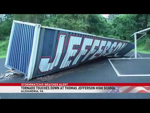 Tornado Touched Down At Thomas Jefferson HS In Fairfax County