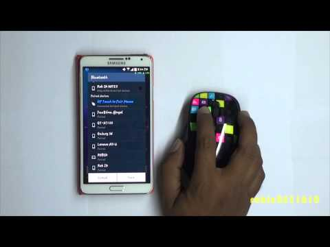 2537f3f900f How to connect wireless mouse to android tablet - YouTube