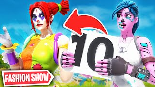 *SCARY* Fortnite Fashion Show in Season 2! FIRE Skin Competition! Best