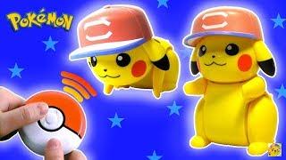 PIKACHU ROBÔ QUE CORRE E DANÇA com Controle Remoto Pokebola (ポケモン あっちこっち ピカチュウ)   Pokemon Brinquedos あっちこっち 検索動画 30
