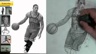 YOUDRAW (How to Draw) Derrick Rose- Interactive Figure Drawing Tutorial