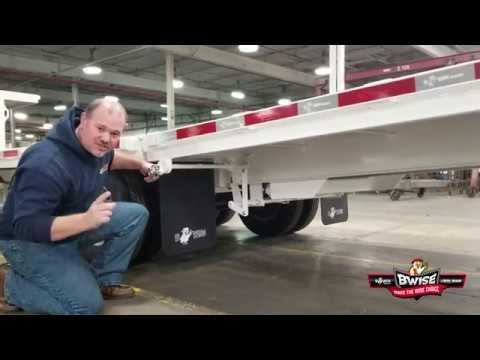 Custom White BWise Gooseneck Deck Over Equipment Trailer