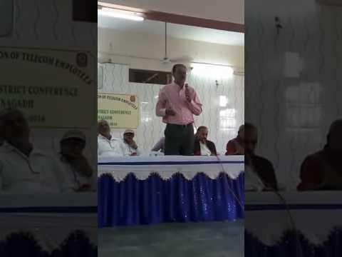 NFTE District Conference 2016 at Junagadh speech of circle secretary Bhatiya