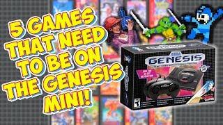 Top 5 Games That Need To Be On The Sega Genesis Mini!