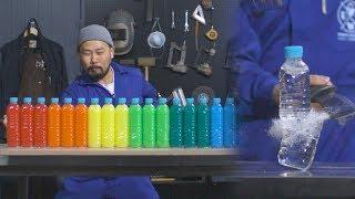 파괴신 천대광의 물병 자르기 세계 기록 도전 [대광이형] Water Bottle Cutting in Slow Motion