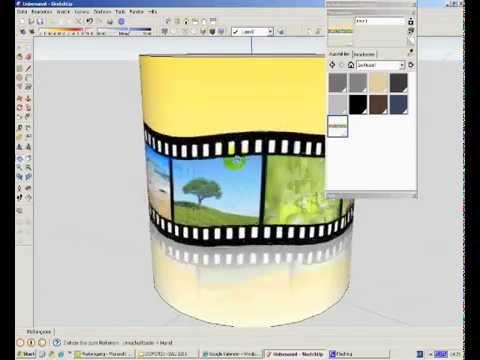 google sketchup textur (bild, foto) auf zylinder (gebogene fläche