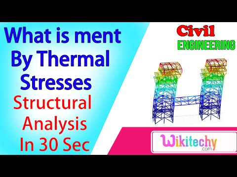 What is meant by thermal stresses | Structural Analysis Interview Questions