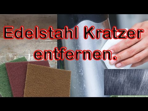 edelstahl kratzer entfernen youtube. Black Bedroom Furniture Sets. Home Design Ideas