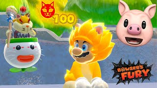 BOWSER'S FURY SECRET ENDING.. [ALL 100 Cat Shines]