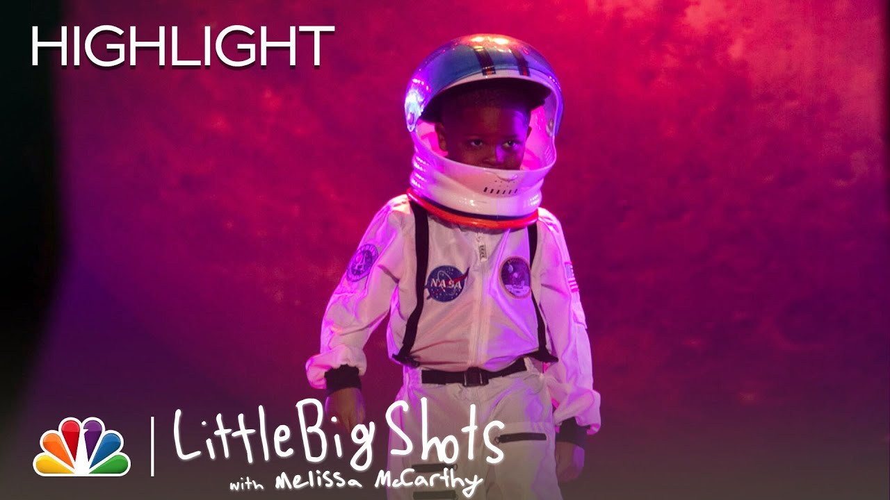 First-Grader Astronomy Expert Jerry Shares His Love of Space with Melissa - Little Big Shots