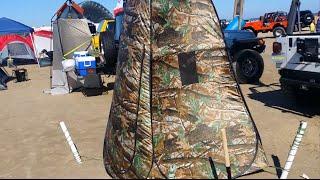 Beach DIY Port A Pottie Pop Up Tent Review How To Fold Setup $30