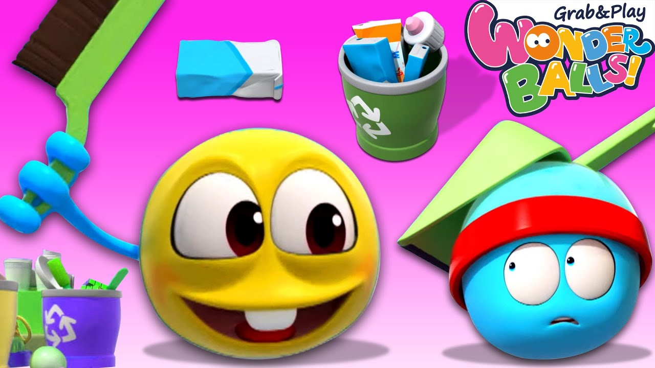 Wonderballs: Tidy Up Episode | Cartoon Animation For Children | Pretend Play for Kids