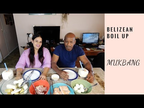 MUKBANG | Belizean Boil Up | Smacking Noises