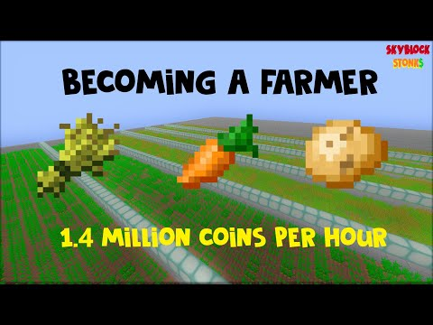 [Skyblock Stonks] The Most Stable Money Making Method | 1.4 Million Coins Per Hour