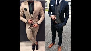 Latest Designer Suits for Men//Men Suits For Wedding#Grom Coat Pant Designs 2017