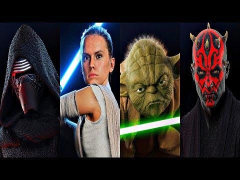 Star Wars Battlefront 2 - ALL 23 HEROES GAMEPLAY (Yoda, Rey, Luke, Kylo, Vader, Maul & More)