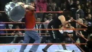 WWF Raw Is War 02 02 98 Cactus Jack vs Chainsaw Charlie