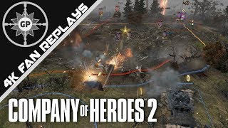 Blob Meets Wall - Company of Heroes 2 4K Replays #82