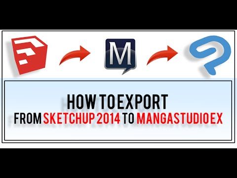 Exporting from Sketchup 2014 to Manga Studio Ex5