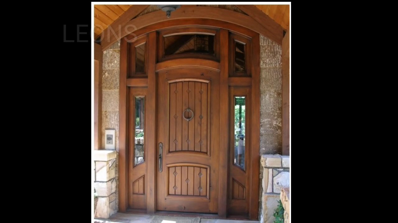 Puertas de madera en finos acabados youtube for Modelos de puertas y precios